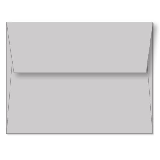 [Image: Gray Linen Announcement Envelope A6 (4 3/4 x 6 1/2) - Custom Printed]