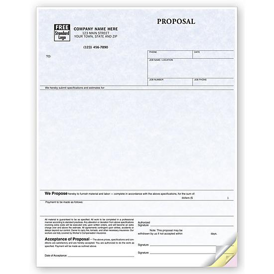 [Image: Laser Business Proposal Form on Parchment Paper]