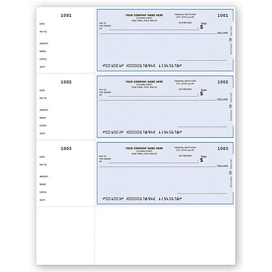 [Image: Quicken Laser Wallet Checks, QuickBooks Compatible, Lined DLW002]