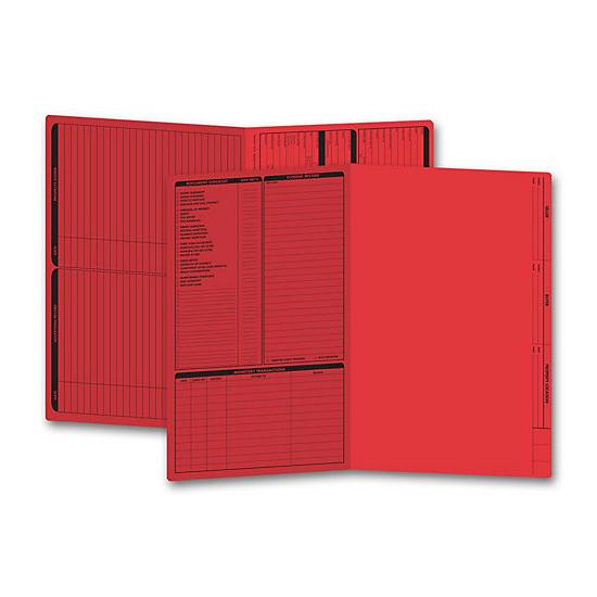 [Image: Real Estate Folder, Left Panel List, Legal Size, Red]
