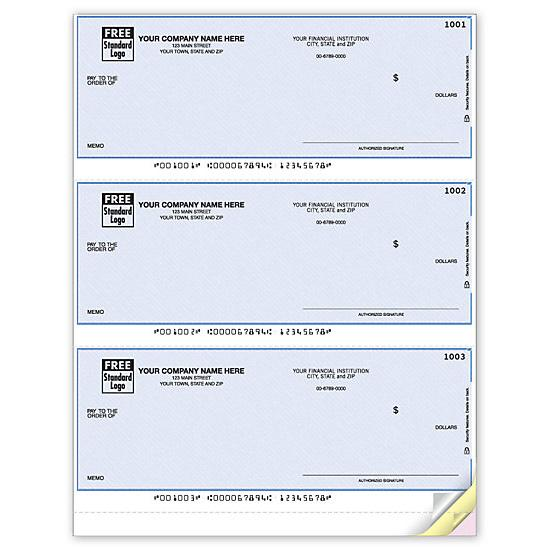 [Image: Quick Pay Laser 3-To-Page Checks, Unlined DLA105]