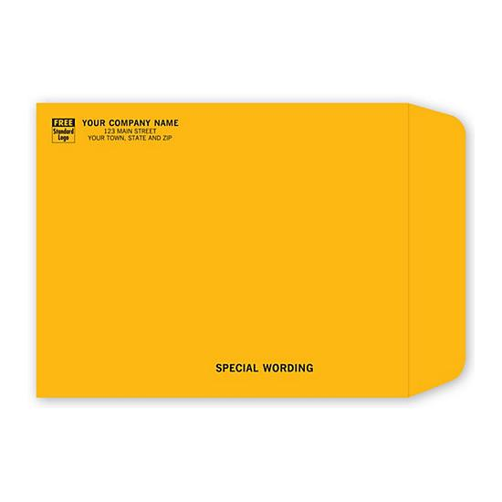 "[Image: Brown Kraft Mailing Envelope with Return Address Printed, 11 1/2 x 14 1/2""]"