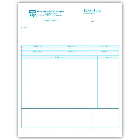 [Image: Classic Laser or Inkjet Service Invoice - Custom Printed]