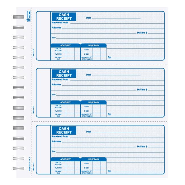 [Image: Petty Cash Receipt Book - Duplicate or Triplicate, Custom Printed, Carbonless, 250 Receipts/Book]