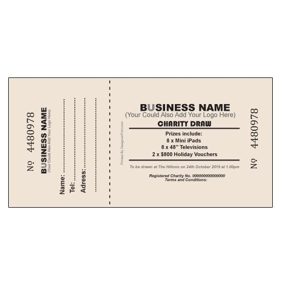[Image: Medium Size Printed Raffle Tickets]
