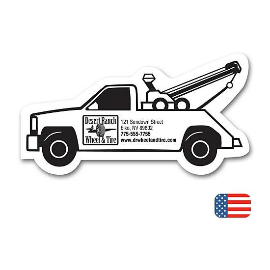 [Image: Tow Truck Shape Magnet]