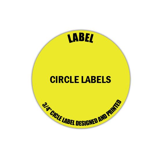"[Image: 3/4"" Circle Label - Personalized & Custom Printed]"
