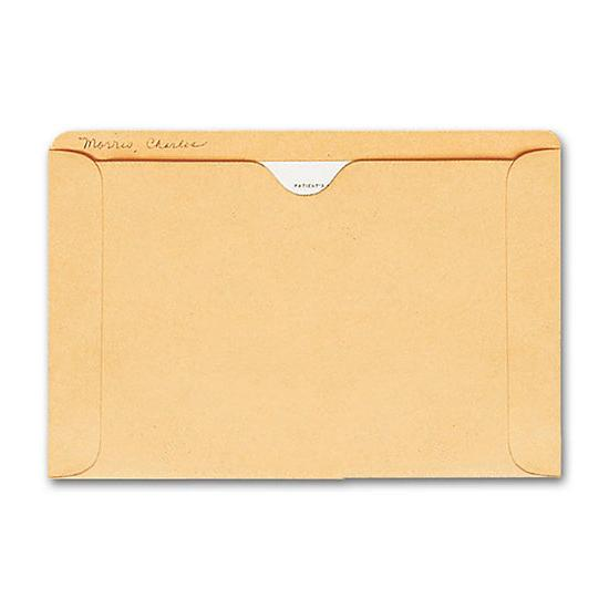 [Image: Straight Tab Card File Pocket, 5 1/2 X 8 1/8, Buff]