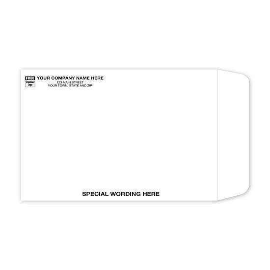 "[Image: White Tyvek Envelope with Return Address Printed, 6 x 9""]"