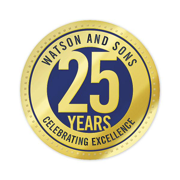 [Image: Business Anniversary Seal Sticker, Rolls Circle]