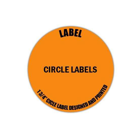 "[Image: 1 3/4"" Circle Label - Personalized & Custom Printed]"