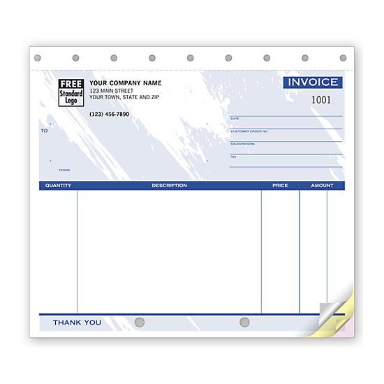 [Image: Small Unlined Invoices - Custom Printed]