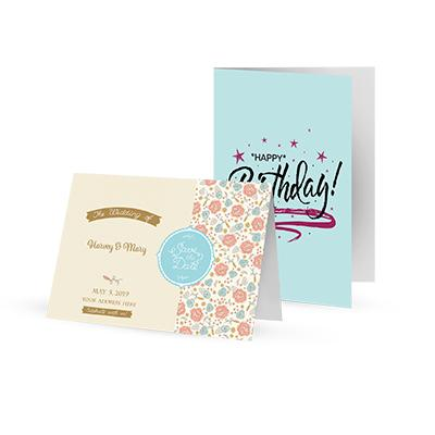 [Image: 5.5 x 8.5 Custom Printed Greeting Cards - Folded Postcards]