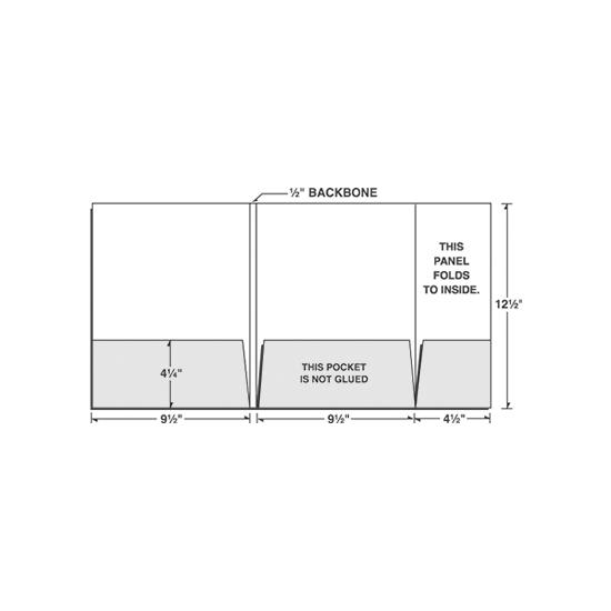 [Image: Tri-Panel Presentation Folder, Small Right Panel with Pocket]