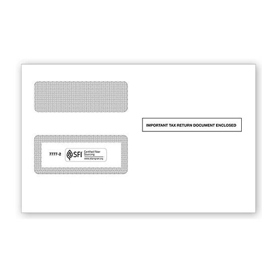 [Image: 1099 2-Up Double-Window Envelope, Self-Seal]
