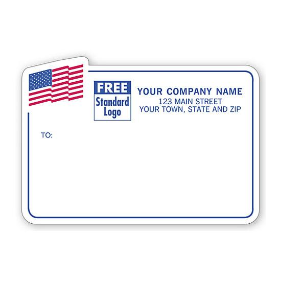 [Image: American Flag Shipping Labels, Padded, White with Blue Border]