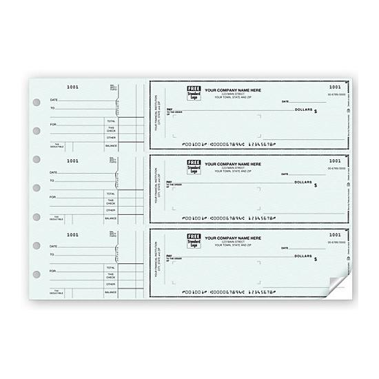 [Image: Manual Business Window Envelope Check, Personalized]