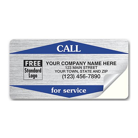 [Image: Call For Service Weather-Resistant Labels - Silver]