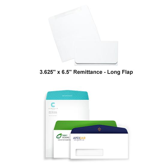 [Image: Full Color Remittance - Long Flap Envelope - Custom Printed with Return Address]