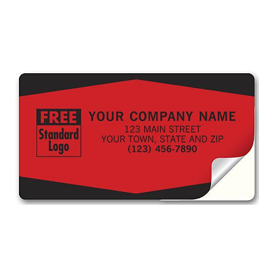 [Image: Service Labels, Padded, Fluorescent Red With Black Edges]
