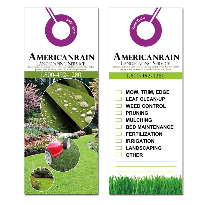 Lawn Care Door Hangers 2 Sided