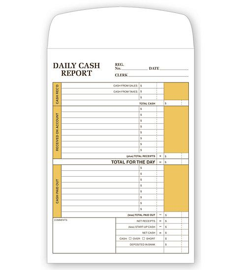 [Image: Daily Cash Report Envelope]