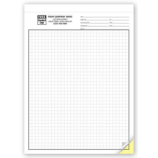 "[Image: Graph Paper - 1/4"" Multi-Part Carbonless Custom Printed]"