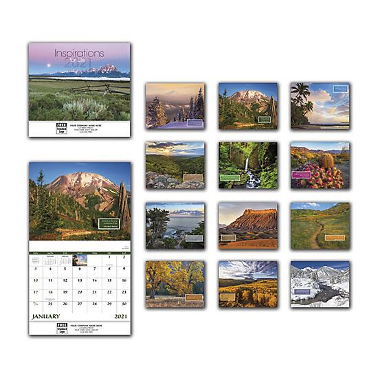 [Image: 2021 Inspirations For Life Wall Calendar, Personalized & Custom Printed]