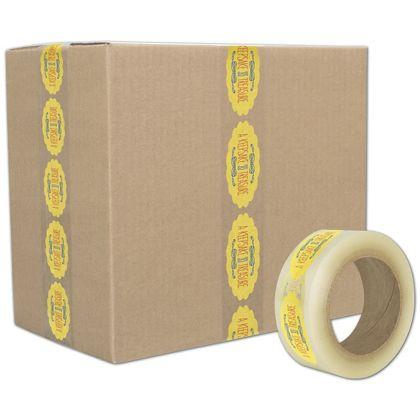 [Image: Custom-Printed Tape, Clear, 3 Colors, Medium]