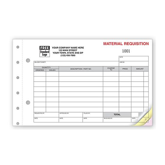 [Image: Material Requisition Form]