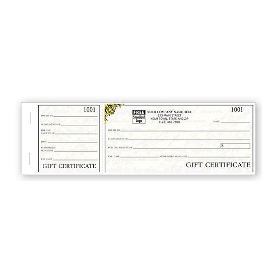 [Image: Vienna Gift Certificates, Booked Sets, Elegant Writing - Custom Printed]