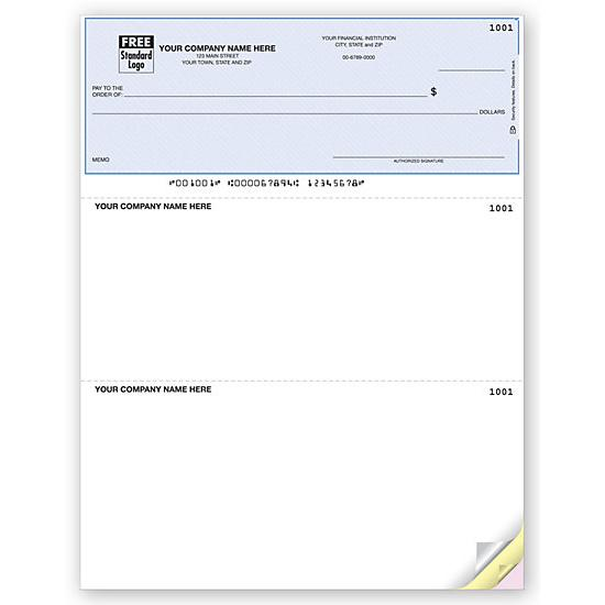 [Image: QuickBooks Laser Top Checks, Lined DLT103]