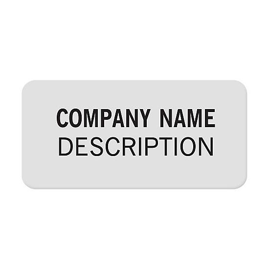 [Image: Square Corner 1 X 1/2 Polyester Labels]