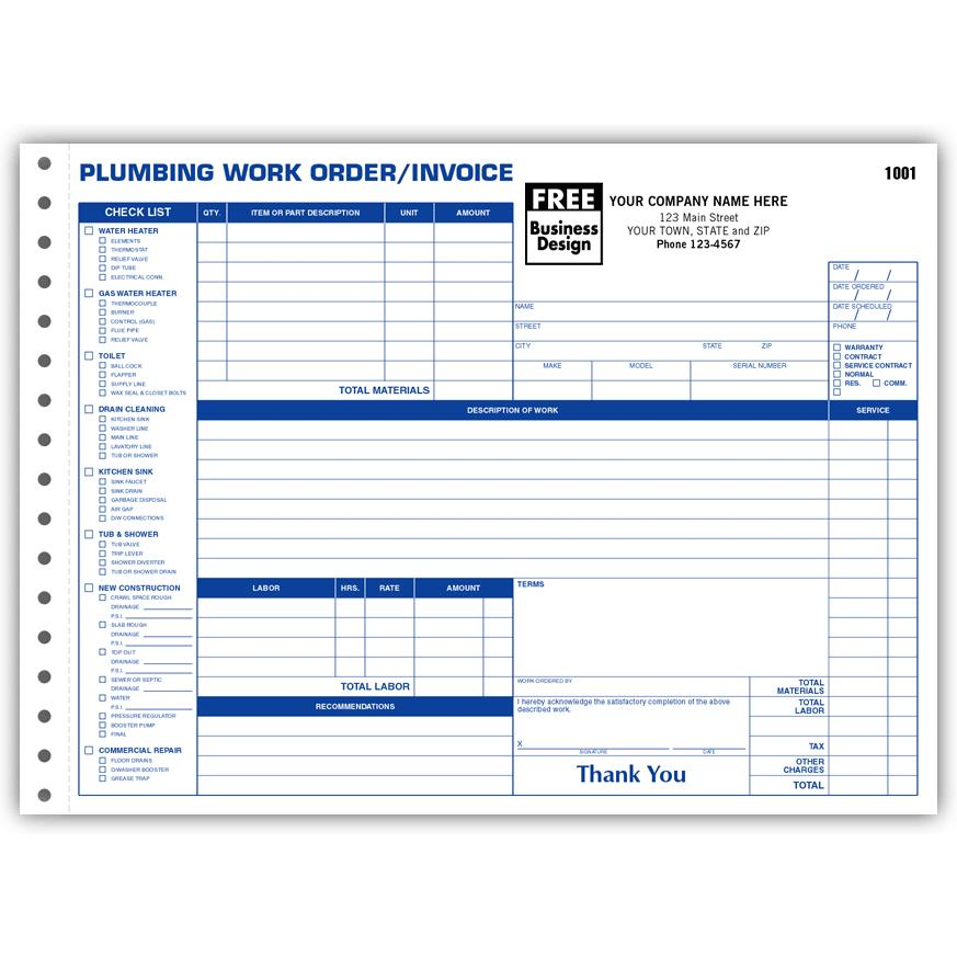 [Image: Plumbing Work Orders With Side-Stub ]