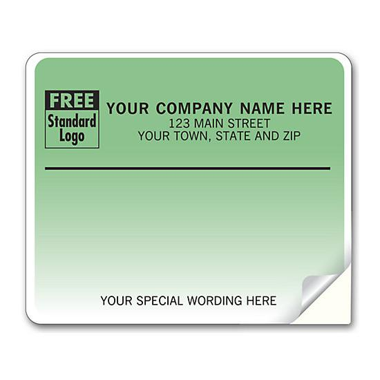 [Image: Shipping Label - Return Address Label, Green - Teal Gradient Background]