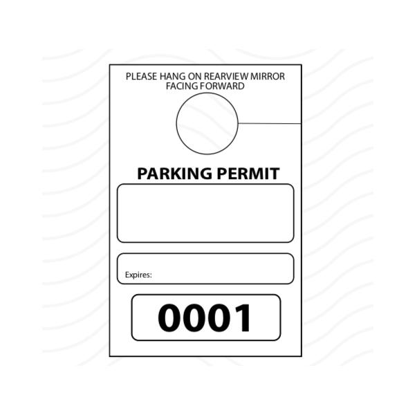 [Image: Parking Permit Hang Tag]