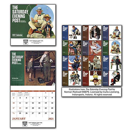 [Image: 2021 The Saturday Evening Post Wall Calendar, Personalized, Custom Printed]