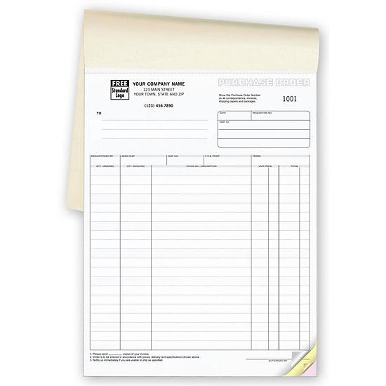 "[Image: Purchase Order Book - Custom Carbonless Format, 2-Part, 3-Part, Large 8 1/2"" x 11"", Pre-Printed, 50 sets per Book]"