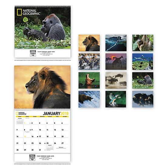 [Image: 2018 National Geographic - Wildlife Of The World - Spiral Calendar]