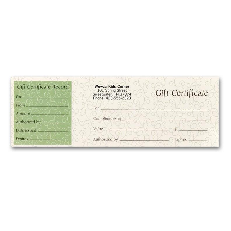 [Image: Personalized Gift Certificates for Small Business]