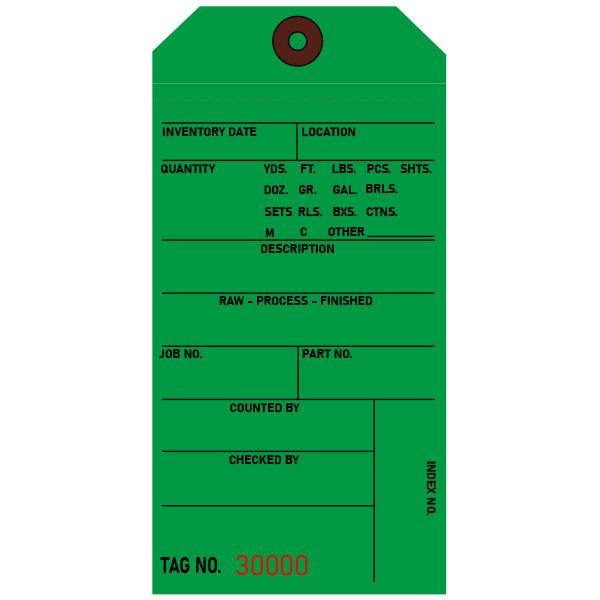 [Image: Green Inventory Tags, Custom Printed]