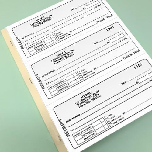 [Image: 4 Part Carbonless Receipt Book]