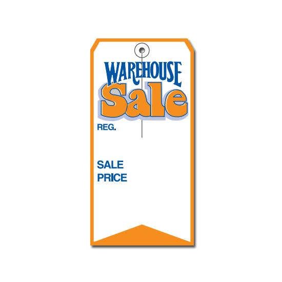 [Image: Large Warehouse Sale Price Retail Tag]