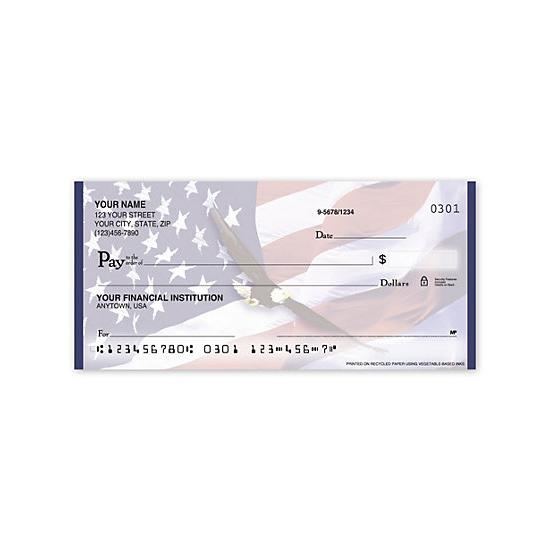[Image: Personal Check with American Flag]