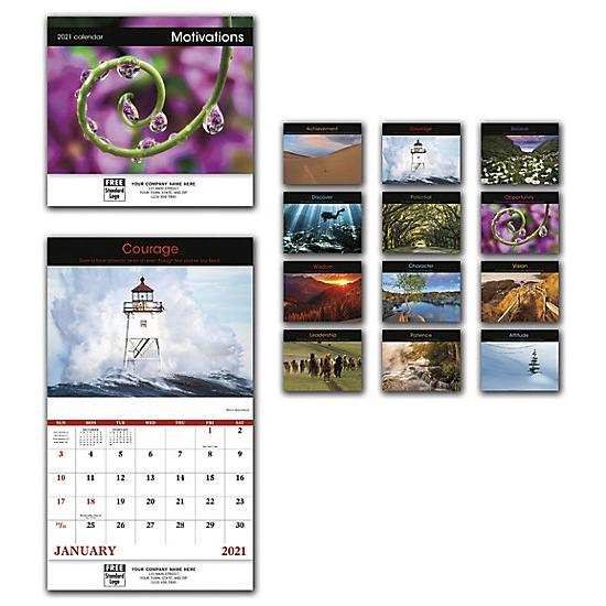 [Image: 2021 Motivations Wall Calendar, Personalized, Custom Printed]