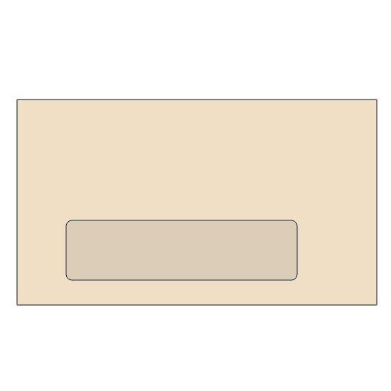 "[Image: #7 3/4 Special Custom Window Envelope, Custom Printed, 3 7/8 x 7 1/2""]"