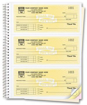 [Image: Personalized Cash Receipt Books - Carbonless Duplicate or Triplicate Copies]