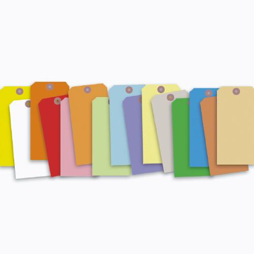 "[Image: Colored Tags With Wire or String 2 3/4 x 1 3/8""]"