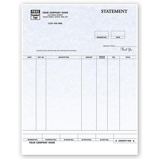 [Image: Billing Statement, Laser and Inkjet Compatible, Parchment, Personalized]
