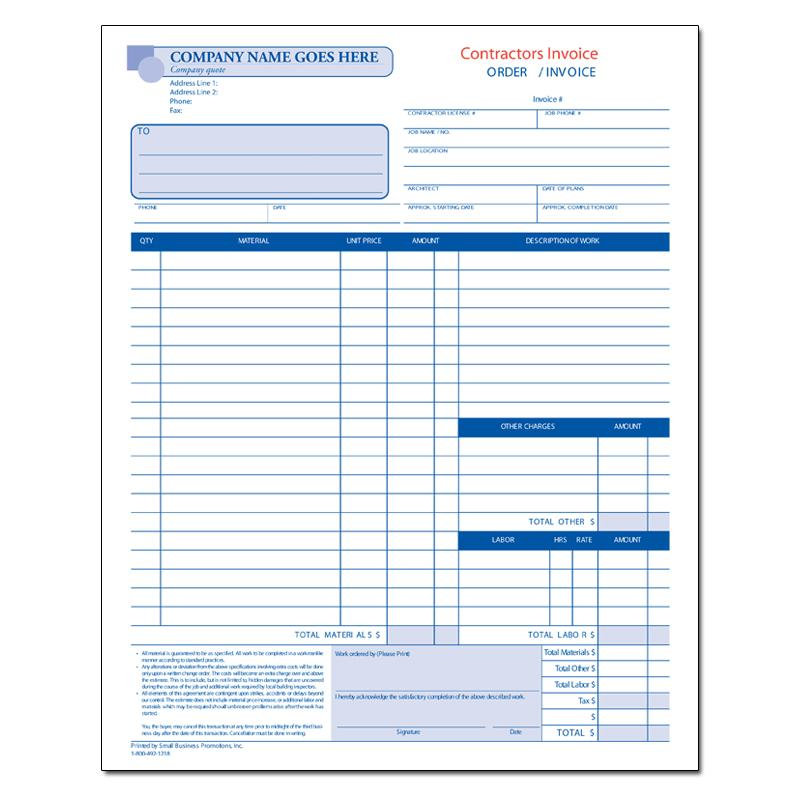 Captivating Contractor Job Invoice For Invoice Contractor